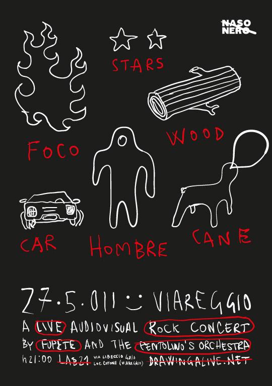 Fupete poster foco 27·5·011 LIVE IN VIAREGGIO !