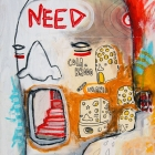 NEED — mixed media on canvas, 2009 — private collection, Brasil