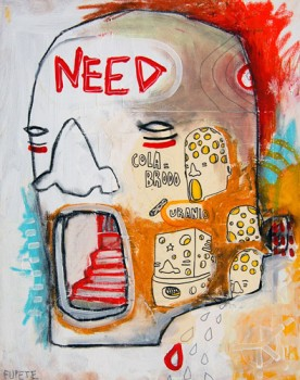 NEED —mixed media on canvas, 2009 —private collection, Brasil