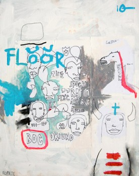 FLOOR — mixed media on canvas, 2009