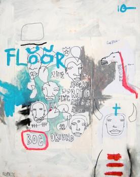FLOOR — mixed media on canvas, 2009