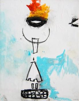 ISLAND — mixed media on canvas, 2009