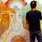 Live painting at Attraversamenti Multipli festival, Roma 2009