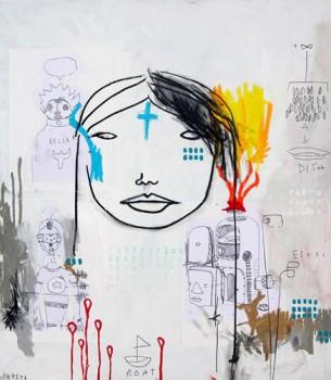 OJOS — mixed media on canvas, 2009