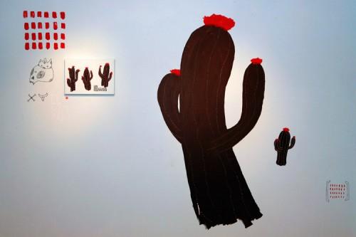 TIERRA Y AZUL — installation, solo show at Kong gallery, México DF 2008