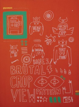 BRUTAL CROP — acrylic on canvas, 2008