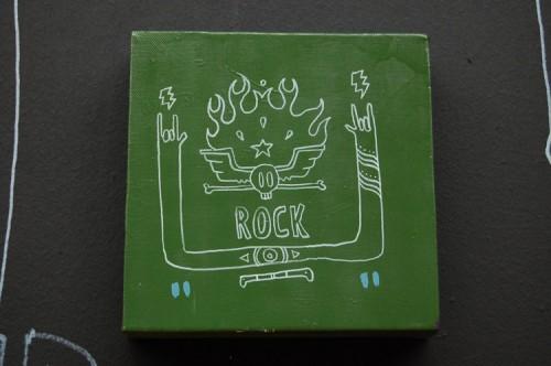 ROCK —acrylic on canvas, 2008