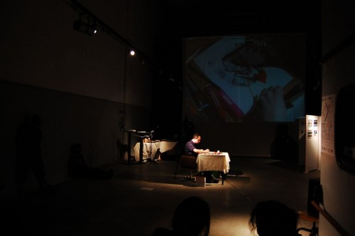 piccola cucina cannibale — Gianluca Costantini's performance
