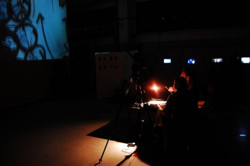 the donut universe —iink & Giovi's performance, music Cabiria