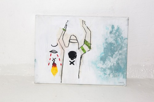 PIRATE — mixed media on canvas, 2009