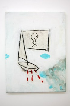 JOLLY ROGER —mixed media on canvas, 2009