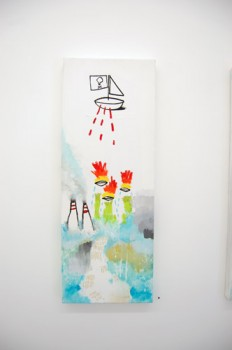 ISLAND —mixed media on canvas, 2009