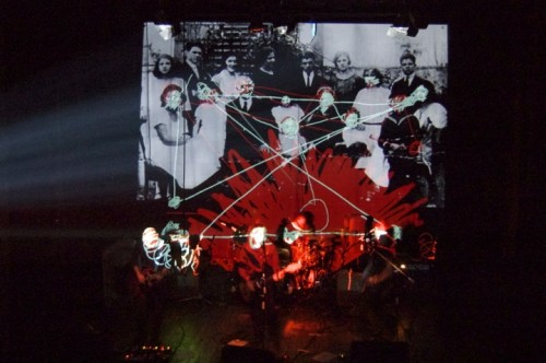 Live digital drawing for Rhumornero, Teatro di Lari, 2011