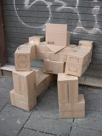 Fupete fupete irobo 2004 cardboard09 unshaped form