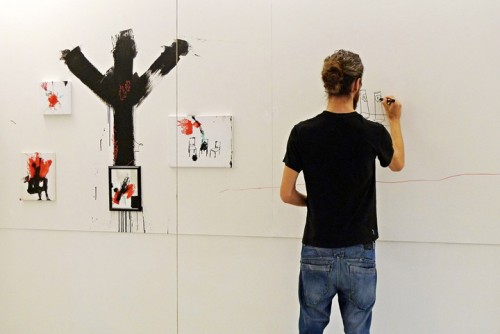 BRUCIA — live painting, solo show at ROJO Artspace, Milano 2012