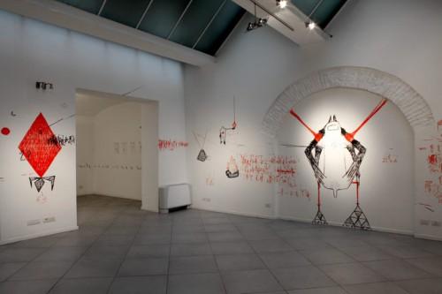 VAGABONDAGE — installation, solo show at Spazio Bianco, Torino 2013
