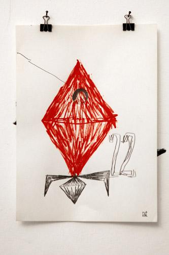 Fupete fupete spaziobianco2013 drawing 07 Vagabondage 2013