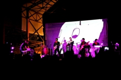 Performing live with Twin Tones, Museo del Ferrocarril, Oaxaca, Mexico