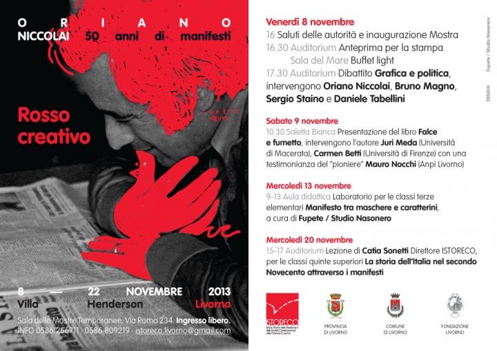 Fupete Oriano Web 10242 720x509 Rosso Creativo. Oriano Niccolai. 50 Anni di Manifesti.